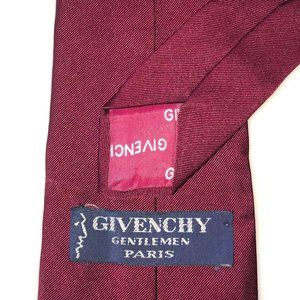 Givenchy red tie irridescent silk blend